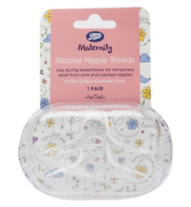 Boots Maternity Silicone Nipple Shields 1 Pair with Sterilisable Storage Case