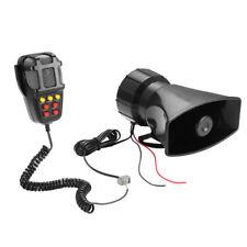 80W Car Suv MIC Multi-tone Claxon Loud Horn Siren 12V Speaker 7 Sounds Horn Tone