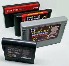 SEGA Cartridge Label Sticker Vinyl Decal Custom - Video Game Mega Drive Gear MS