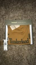 Timberland Logo Jacquard Tan Scarf and Beanie Set
