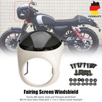 7'' Motorrad Frontscheinwerfer Verkleidung Maske Weiß Für Harley Sportster 883