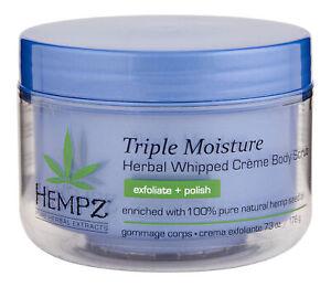 Hempz Triple Moisture Herbal Whipped Creme Body Scrub 7.3 oz. Body Exfoliator