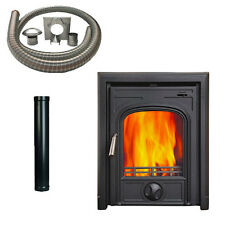Anvil Inset 4 Multifuel Woodburning Stove Fire With 6mtr Installation Kit