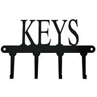 "Schlüssel Schild Anhänger ""Keys"" Schlüsselbrett Schwarz Metall 4 Schlüssel"