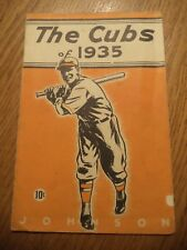 1935 Chicago Cubs Baseball Yearbook
