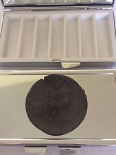 Sestertius Of Nero Roman Coin WC29 Pewter On A Mirrored 7 Day Pill box Compact