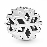 Polished Snowflake Schneeflocke PANDORA Charm 925er Sterlingsilber 798469C00
