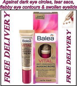 Balea VITAL 5 in1 Anti-Fatigue Eye Cream 15 ml for Mature Skin Age Free Delivery