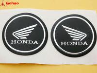 Tank Fairing Round Sticker Badge Emblem for Honda Wing Gel Rubber Silver 55mm