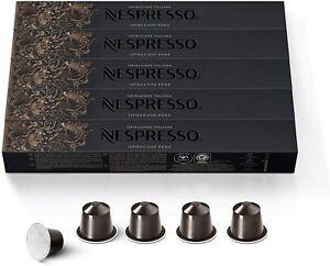 NEW 50 ORIGINAL NESPRESSO COFFEE CAPSULES PODS - ROMA (Intensity: 8)