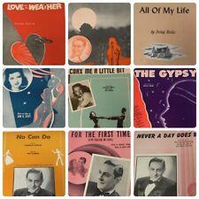 9 Vintage 1940s Sheet Music Guy Lombardo Irving Berlin Charles Tobias Nat Simon