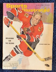 1.25.1965 BOBBY HULL Sports Illustrated CHICAGO BLACKHAWKS -  VINTAGE PRINT ADS