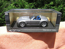 Hot Wheels Metal Collectibles Ford Shelby Cobra Silver Die Cast 1:18 Scale