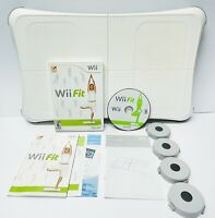 Nintendo Wii Fit Game And Balance Board - Risers Manuals - Clean TESTED Working