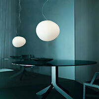 Modern LED Pendant Light Ceiling Lamp Glass & Metal Cafe Lighting Fixture