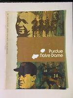1970 Notre Dame Fighting Irish vs Purdue Boilermakers Football Program GOOD Cond