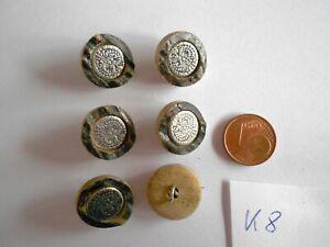 6 Hirschhorn Knöpfe Klassisch 20 mm Unikate Rehbraun