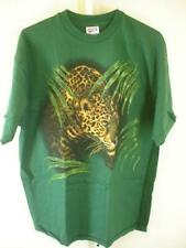 Mens XL Vtg 1980's 1990's Harlequin T-Shirt Green Leopard Graphic Print USA Made