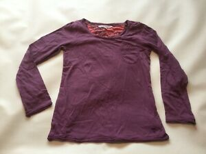 Girls Genuine Fat Face Long Sleeved Crew Neck T-shirt Top Size age 10-11  vgc