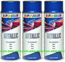 3x400ml Lackspray Metalliklack Sprühlack metalleffekt Metallic Effektlack Blau