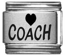 Clearly Charming Heart Coach Laser Italian Charm