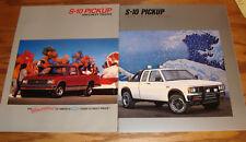 Original 1988 1989 Chevrolet S-10 Pickup Sales Brochure Lot of 2 88 89 Chevy