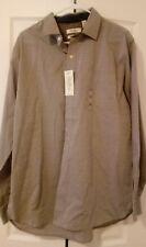 NWT Van Heusen Originals Mens Dress Shirt Size Large L Grey