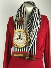 "Vintage Original Ralph Lauren Yacht Club 35"" Square Pure Silk Scarf Japan Unisex"