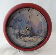 Thomas Kinkade Christmas Carol Clock A Holiday Gathering 12 Carols on Hours