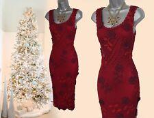 KAREN MILLEN  20s VTG Style Gatsby 3D Flowers Crochet Cocktail Dress 1 UK8 10