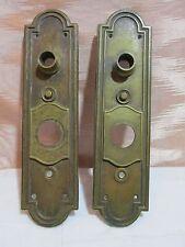 Pair of Antique Regal Bronze/Brass Door Knob Backplates