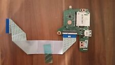 HP Chromebook 14 Memory Card & USB sisterboard with ribbon cable DA0Y01TB4C0 REV