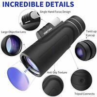 High Power 10X42 HD Monocular Optics Telescope Outdoor Travel Hiking Watching