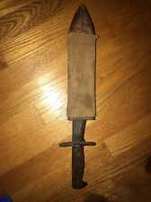 Vintage WWI US Mod 1917 C.T. Plumb Knife With Scabbard