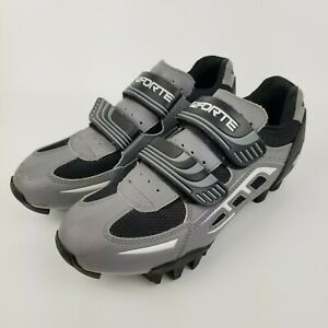 Forte Gray Black C 08 Hook And Loop Fasteners SPD Cycling Shoes Women 9 / Men 7