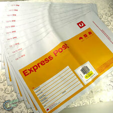 10x 1KG EXPRESS Prepaid Satchel Yellow AusPost Post Office Parcel Small Bag