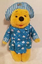 """1995 Winnie The Pooh in Raincoat attached book 12"""" Plush Stuffed Animal Toy rare"""