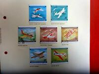 1980 MONGOLIA  SET OF 7 WORLD ACROBATIC CHAMPS  STAMPS HINGED USED