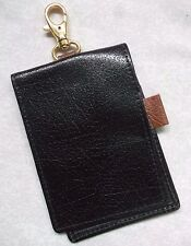 Golf Golfers MATE Leather PITCHFORK NOTEPAD WALLET BLACK WITH CLASP