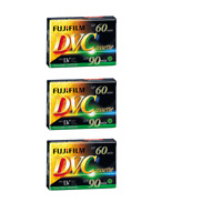 3 Pack Fuji Premium Mini DV Camcorder Tapes 60 Minute Cassettes - SP60 LP90