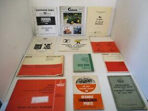 12 - Mixed Brochures/Manuals Fahr Timberjack Cletrac Curtis Novo Engine Tractor