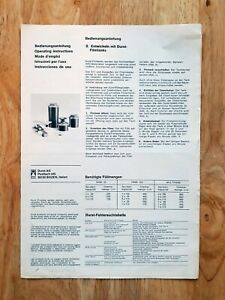 Durst Film Tanks - processing plus film reels and film loaders instructions