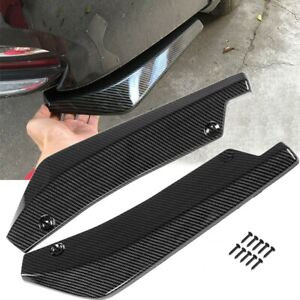 2x PP Rear Diffuser Rear Lip Wrap Angle For Subaru BRZ Impreza For Ford Mustang