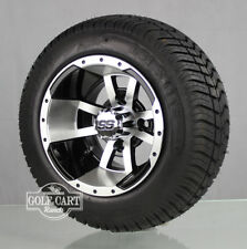 (4)Golf Cart 205/50-10 Tire on 10x7 Blk/Machined Storm Trooper  Wheel