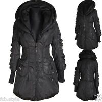 DAMEN BALLON WINTER JACKE PARKA MANTEL 44 SCHWARZ WARM ANORAK WINTERJACKE COAT
