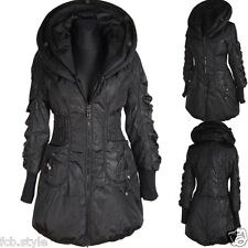 DAMEN BALLON WINTER JACKE PARKA MANTEL 42 SCHWARZ WARM ANORAK WINTERJACKE COAT