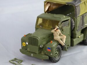 Leyland Martian 10 Ton Army Military White Metal Toy Built Model Lorry Truck OLD
