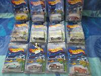 2002 Hot Wheels Super Treasure Hunt Set of 12  w/RR's w/protecto packs(#716)