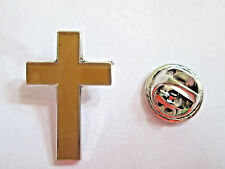 Cross Lapel Pin Hat Cap Tie Pin Badge Brooch Holy Religious Gift L036