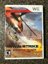 TWIN STRIKE OPERATION THUNDER NINTENDO WII COMPLETE ! Free Shipping!!